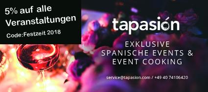 5% auf alle Veranstaltungen bei TAPATEO