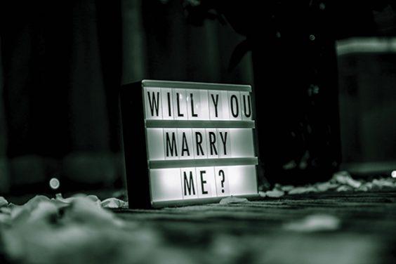 Ungewöhnliche  Ideen für den Heiratsantrag