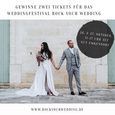 VERLOSUNG: 2x 1 Freikarten für Rock Your Wedding – die alternative Hochzeitsmesse