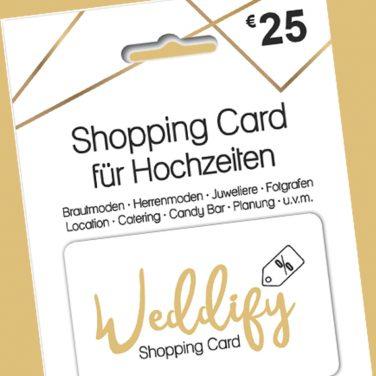 5 Euro Rabatt auf die Shopping Card