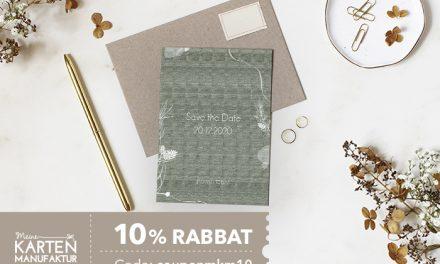 10% Rabatt bei meine-kartenmanufaktur.de